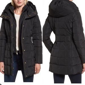 Cole Haan Hooded Down & Feather Jacket, Black, L
